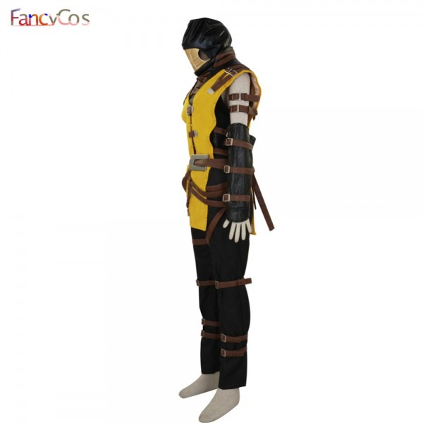 Halloween Mortal Kombat Scorpion Hanzo Hasashi Mask Cosplay