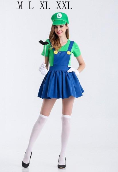 Halloween Super Mario Costume Women Luigi Costume Clothing Sexy