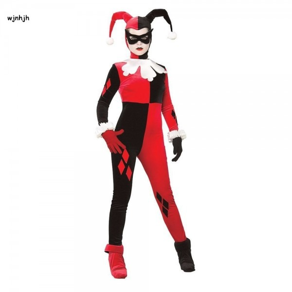 Harley Quinn Costume Women Adult Sexy Superhero Clown Cosplay