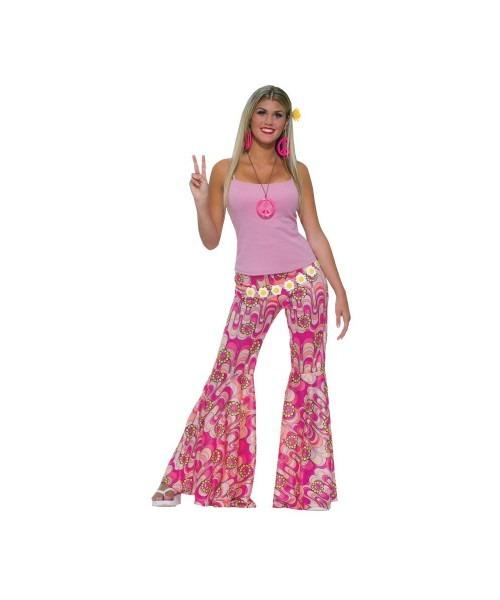 Flower Bell Bottom Pants