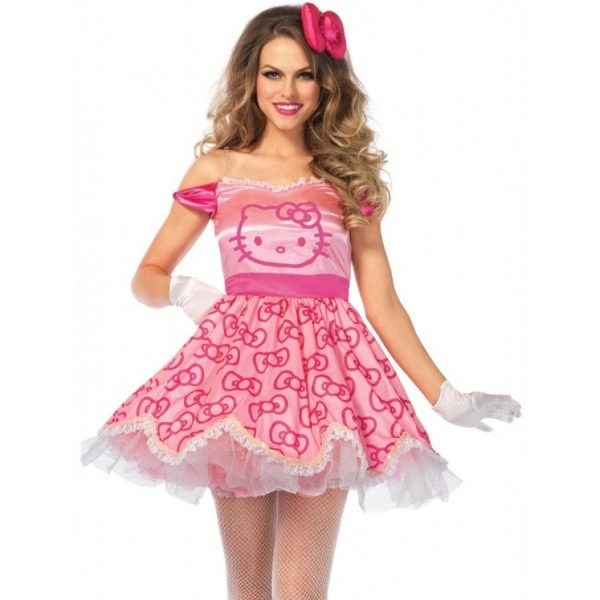 Hello Kitty Pretty Pink Costume For Women
