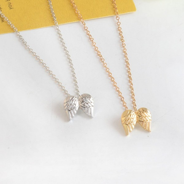 Hot Sale Guardian Angel, Angel Wings Gold Color Pendant Necklace