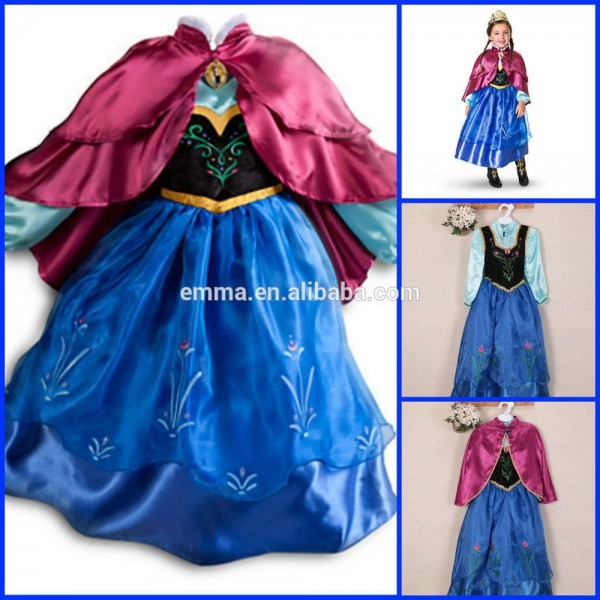 Hot Sale Girls Frozen Elsa Coronation Dress Costume Cosplay For