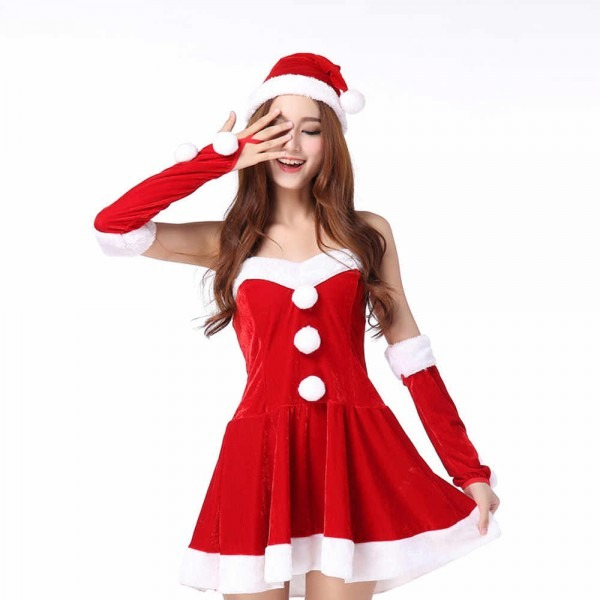 Detail Feedback Questions About Ladies Christmas Dress Santa Claus