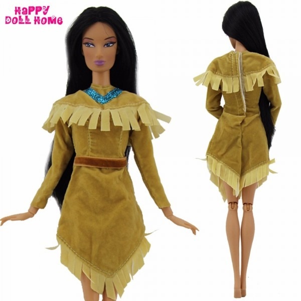 2 Sets Fairy Tale Outfits Copy Princess Pocahontas Wedding Party