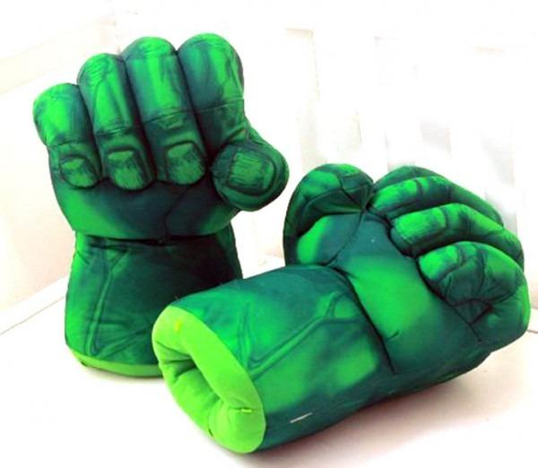 Buy The Hulk Smash Hands Fists Big Soft Plush Gloves Pair Costume