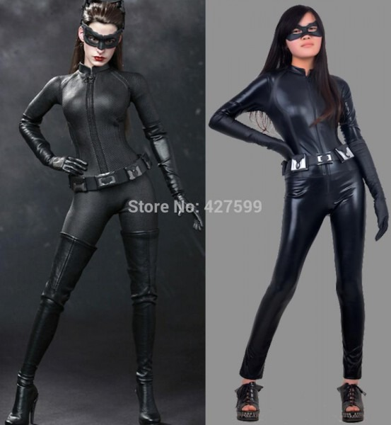 Catwoman Cosplay Costume The Dark Knight Rises Bodysuit Sexy