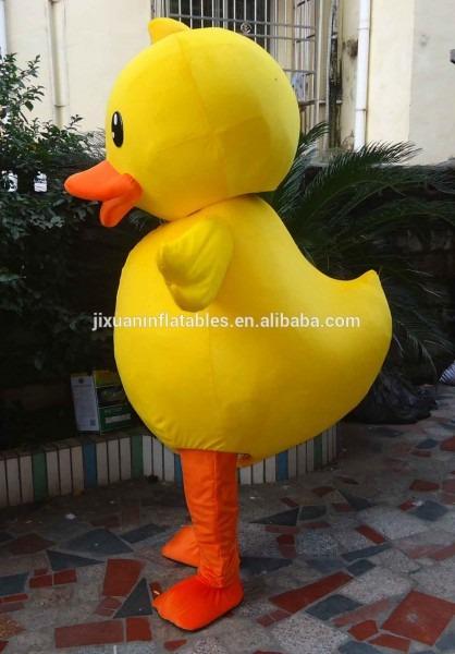 Hot Sale Yellow Duck Mascot Costume For Kid,,plush Mascot Costume
