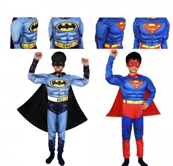 Superman Batman Movie Classic Muscle Child Halloween Costume For