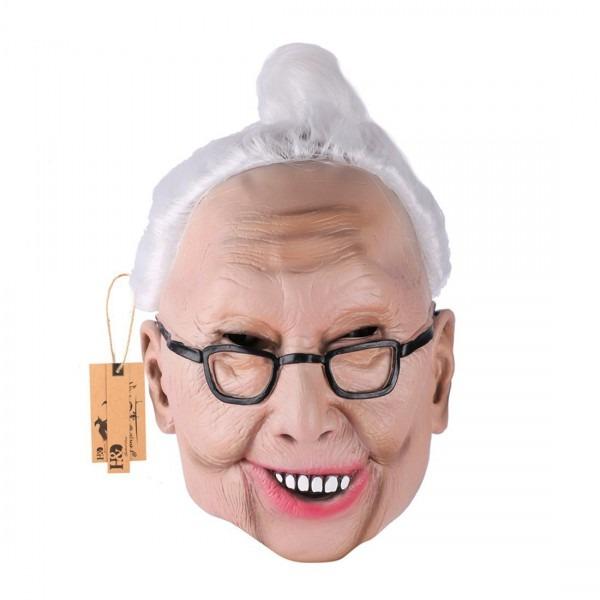 Buy Yufeng Halloween Masquerade Party Old Man Head Latex Masks