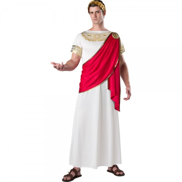 Julius Caesar Men's Adult Costume Roman Emperor Greek Toga