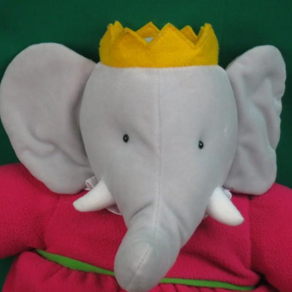 Prince Babar Nalvana Girl Elephant Pink Dress Princesse Crocodile