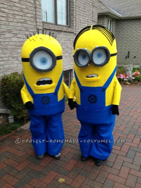 Homemade Kids Minion Costumes