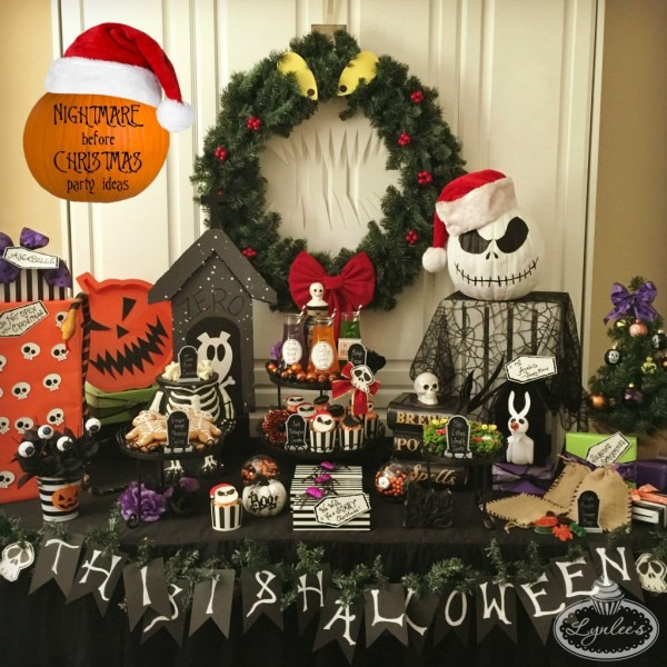 Nightmare Before Christmas Party Ideas — Lynlees