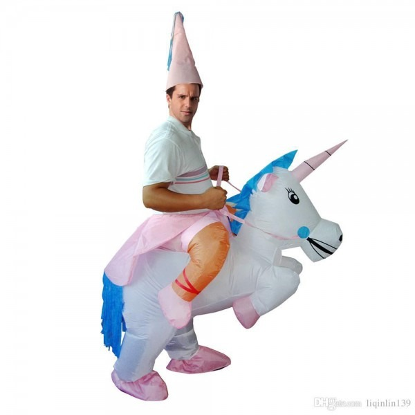 Inflatable Halloween Costume Unicorn Esize Adult Kids Horse Fancy