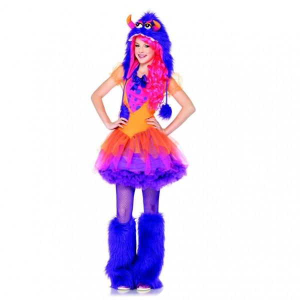 Ifavor123 Com  Teen Girls Furry Purple Monster Dress And Hoodie