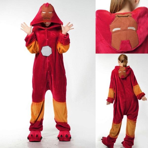 Iron Man Kigurumi Onesies Pajamas Costumes Homewear
