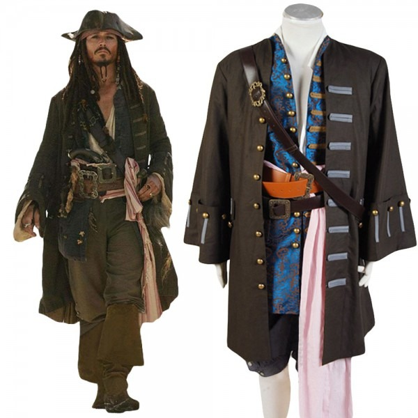 Jack Sparrow Costume Cosplay Pirates Of The Caribbean Cosplay