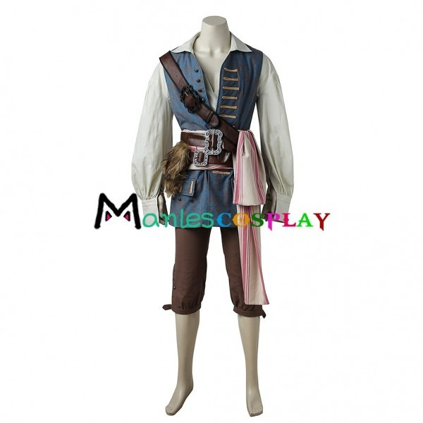 Captain Jack Costume For Pirates Of The Caribbean Jack Sparrow Cosplay