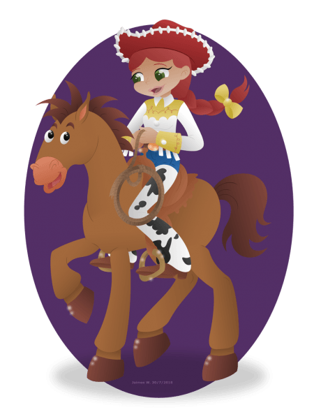 Jessie On Bullseye [toy Story] Point Commission By Lavenderrain24