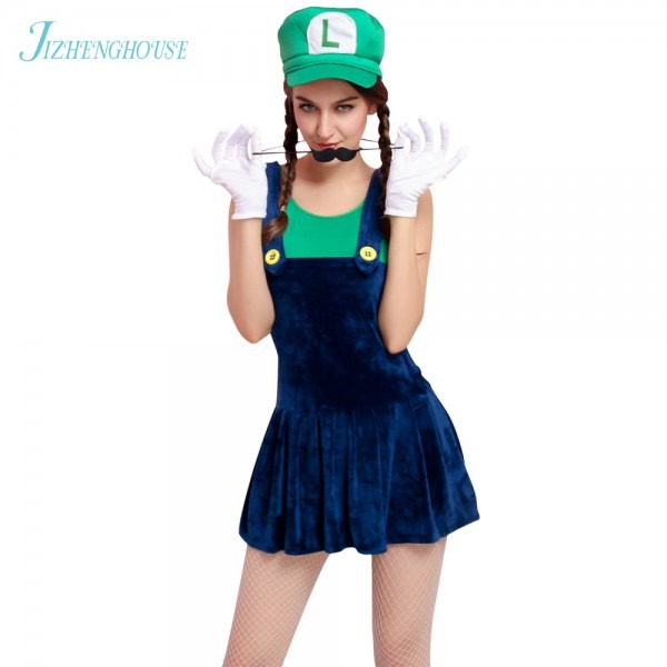Jizhenghouse Funy Cosplay Costume Super Mario Luigi Brothers Fancy