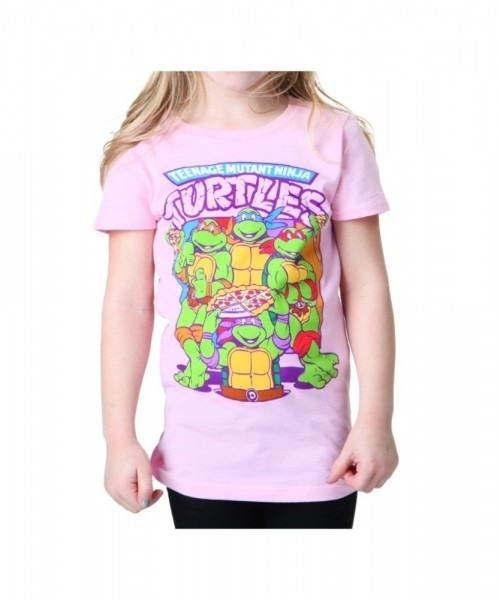 Juvy Tmnt Pink Group Pizza T