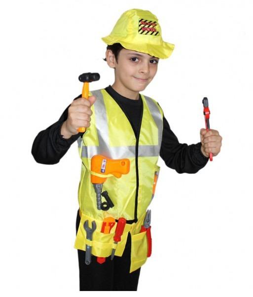 Kaku Fancy Dresses Engineer Costume,worker Costume For Kids School