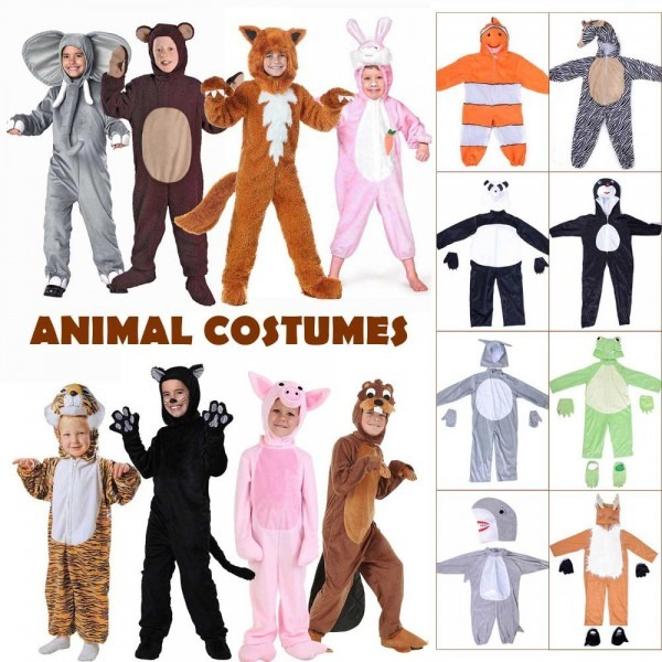 Kids Animal Costume Halloween Fancy Dress Cute Puppy Onesies