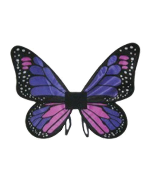 Kids Purple Satin Butterfly Wings