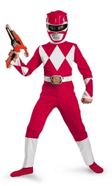 Pink Power Ranger Kids Costume & Kids Red Ranger Classic Costume