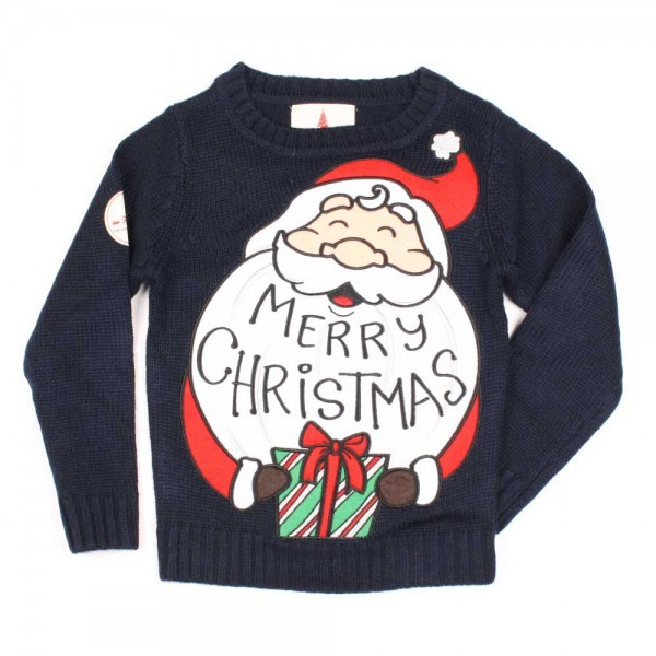 Kids Santa Gift Christmas Jumper