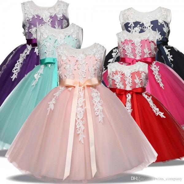 2019 Kids Toddler Princess Dress For Girls Outfits Children