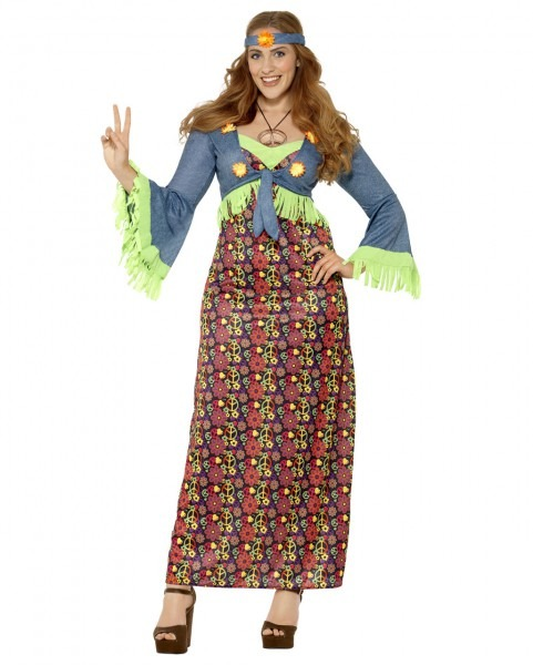 Curvy Hippie Lady Plus Size Costume To Order