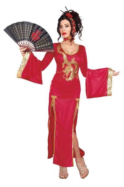 Golden Dragon Geisha Women's Costume By Dreamgirl®