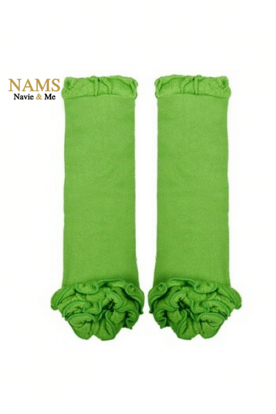 Ruffle Green Leg Warmers