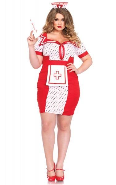 Sexy Retro Plus Size Nurse Costume