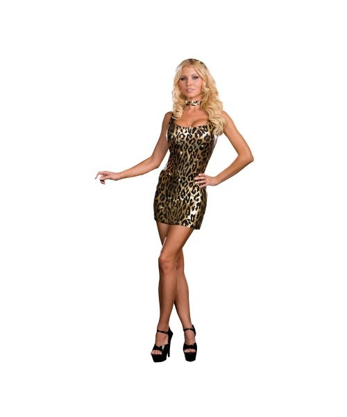 Snazzy Leopard Womens Costume