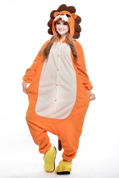 Lion Costume  Plus Size Halloween Costume For Women  Mens Onesie