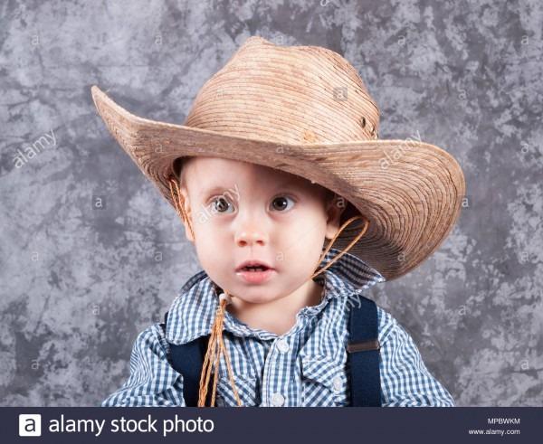 Portrait Child In Costume Sombrero Stock Photos & Portrait Child