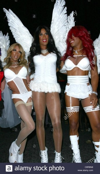 Males In Victoria Secret Angel Costumes 2011 West Hollywood