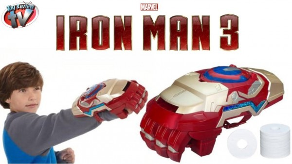 Marvel Iron Man 3 Nerf Motorized Arc Fx Gauntlet Toy Weapon Review