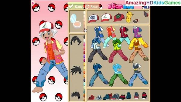 Pokemon Ash Ketchum Dress Up Walkthrough Gameplay Part 1