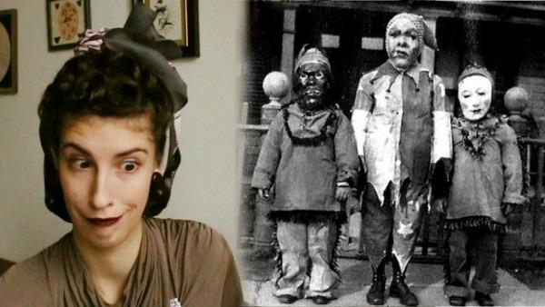 Reacting To Creepy Vintage Halloween Costumes