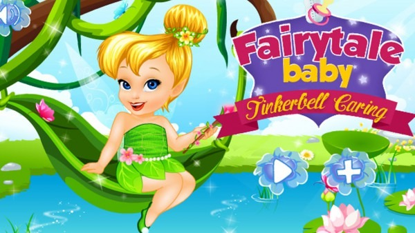 Fairytale Baby Tinkerbell Caring Dress Up Game