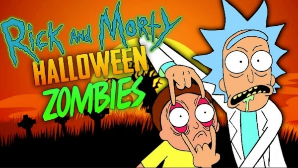 Rick & Morty Halloween Zombies  Wubba Lubba Dub Dub! (black Ops 3