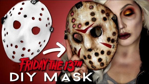 Diy Jason Mask Friday The 13th Halloween Costume Makeup Tutorial