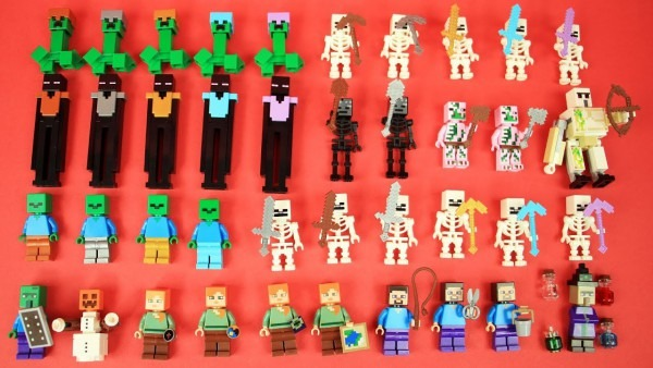 All Lego Minecraft Armor, Tools & Weapons Collection