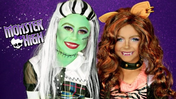Monster High Frankie Stein And Clawdeen Wolf Costumes And Makeup