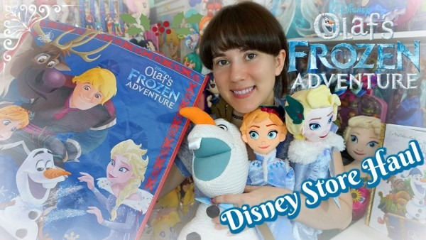 Disney Olaf's Frozen Adventure Disney Store Merch Haul  Plush