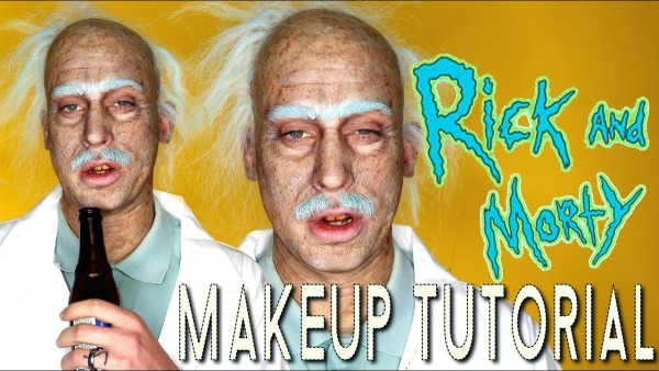 Rick & Morty Old Age Halloween Costume Makeup Tutorial